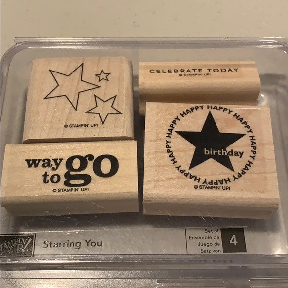 🍀3/$25 - Starring You woodblock set of 4